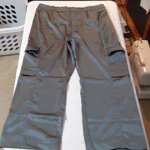 Prologue satin high waist pants hemmed to petite